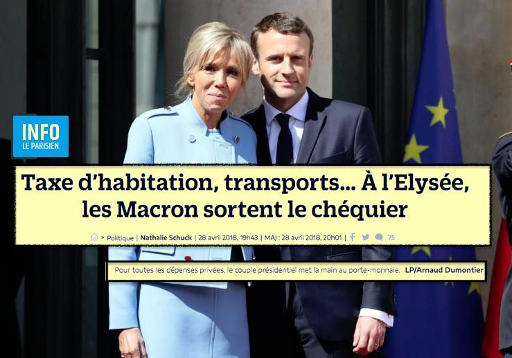 Macron Elysée Taxe habitation, etc