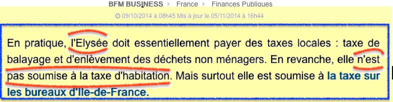 Macron Elysée taxe habitation