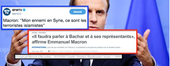 Macron Syrie Assad Trump Poutine