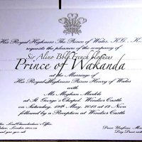 "Invitation: ""Prince of #Wakanda"" au mariage de Meghan Markle & Harry... #MariagePrincier"