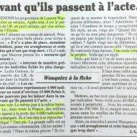 """De la politique """"Minority Report"""" sur les #fichés'S: la claque du Canard enchaîné."""
