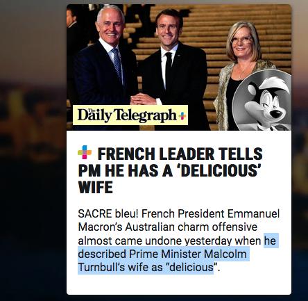Macron en Australie