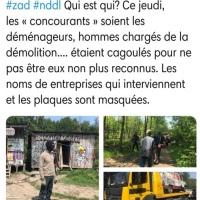 """Tiens, les """"#BlackblocsDEtat"""", chargés de la démolition à #NDDL, des #casseurs ..."""