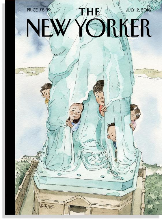 The NewYorker Cover Enfants en prision USA Trump