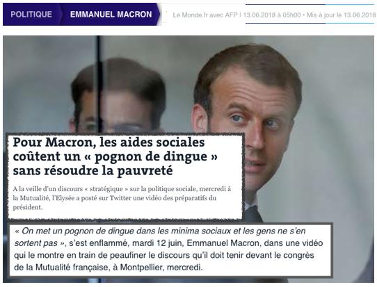 Pour Macron, les aides sociales coûtent un « pognon de dingue » sans résoudre la pauvreté