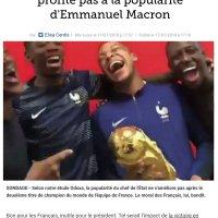 """Pas d'effet """"#ChampionsDuMonde"""" pour Emmanuel #Macron, raté!"""