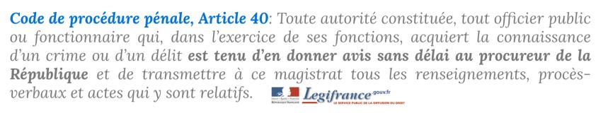 Arti.40 code de procédure pénale Macron affaireBenalla.png