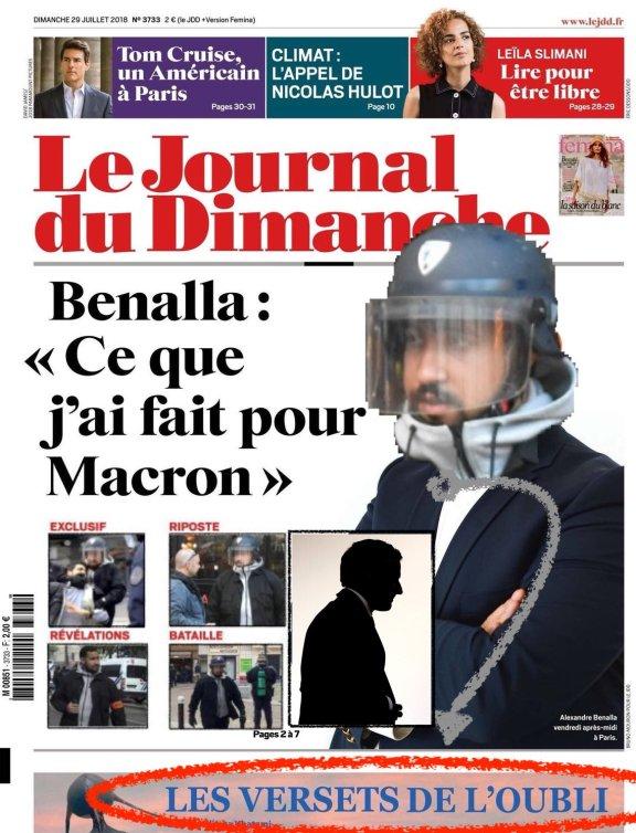 JDD Benella Ce que j'ai fait pour Macron affaire révélations