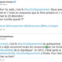 Ce 1er août, c'est le #JourDuDepassement du quinquennat Macron. Crédit🌍épuisé, #Benalla.