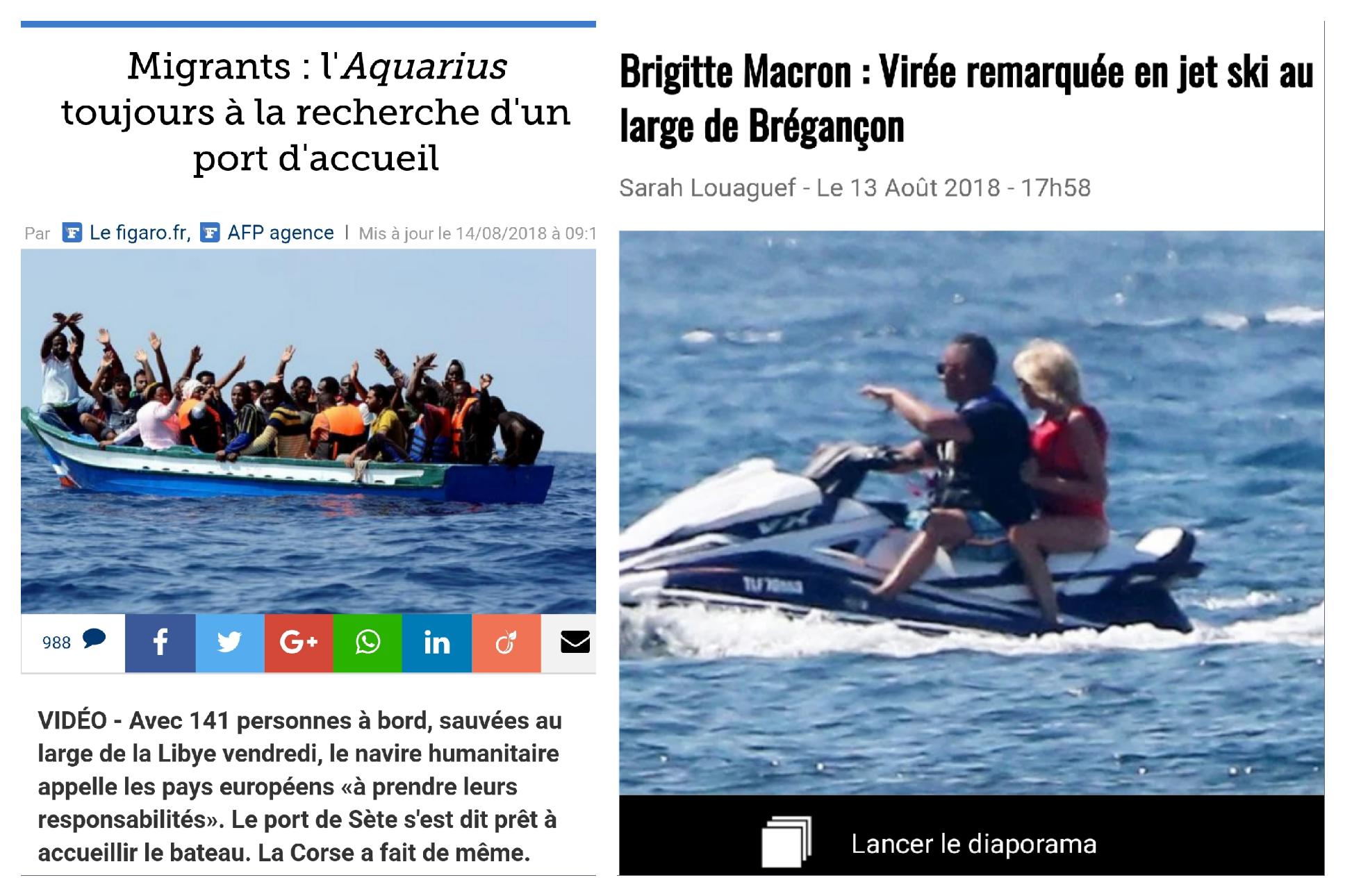 Alerte A Bregancon Brigitte Macron En Jet Ski Face Aux Migrants En Mediterranee Et Elle A Extimites Politiques
