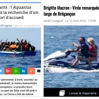 Alerte à #Brégançon: Brigitte #Macron en Jet ski face aux migrants en Méditerranée |Et elle a...