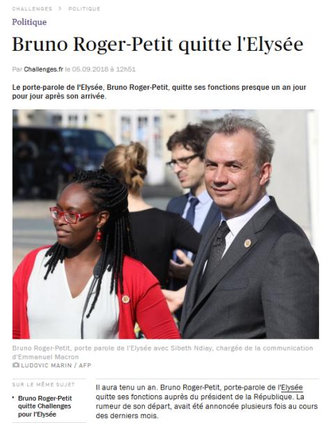Bruno Roger Petit Elysée