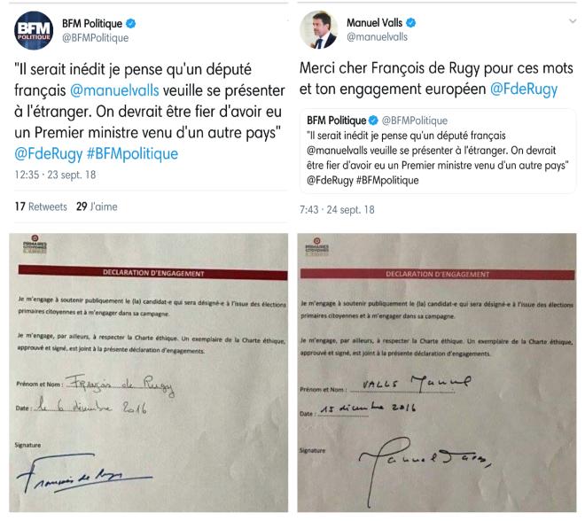 De Rugy Manuel Valls Amis primaires