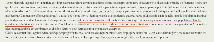 Laurent Bouvet Identitaire peste brune.