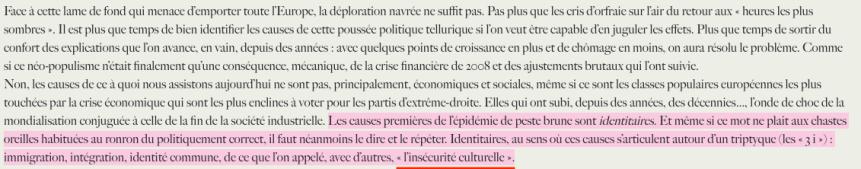 Laurent Bouvet Insécurité Culturelle Identitaire