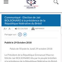 """Emmanuel Macron a félicité l'#extrêmedroite, M.Le Pen aussi. Le #Bresil bascule & il """"Samba"""""""