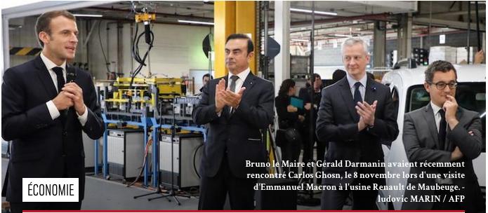 Carlos Goshn Bruno Le Maire Darmanin Macron