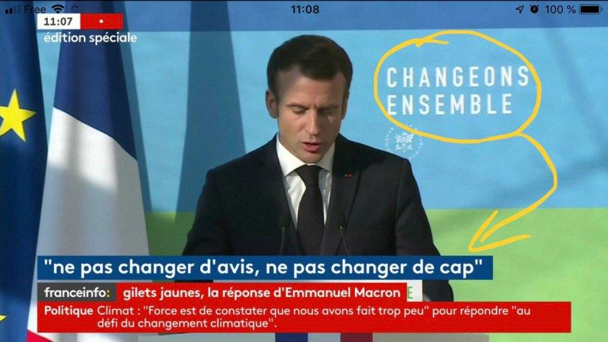 Emmanuel Macron Réponse Gilets jaunes