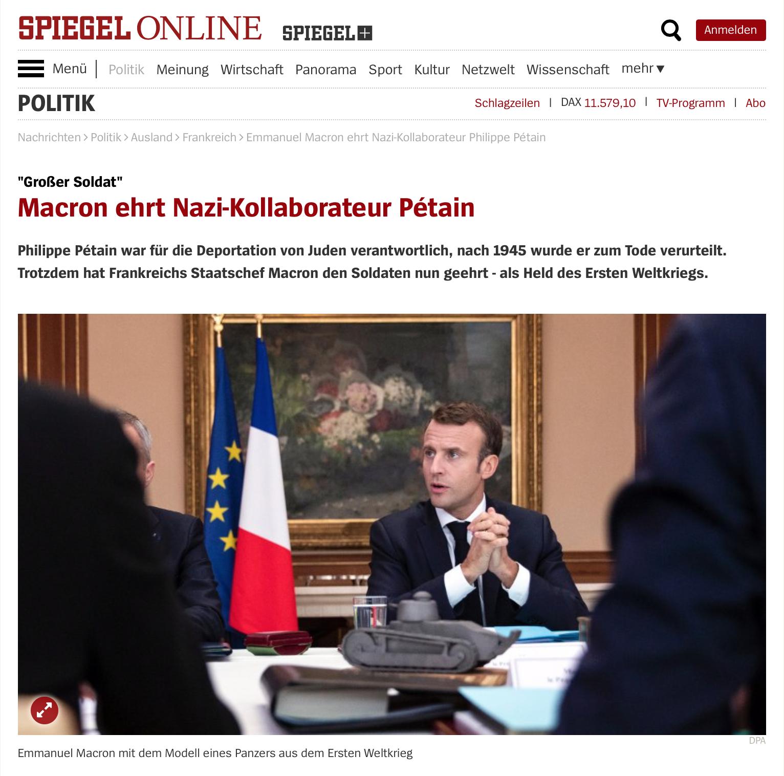 Macron Petain Spiegel