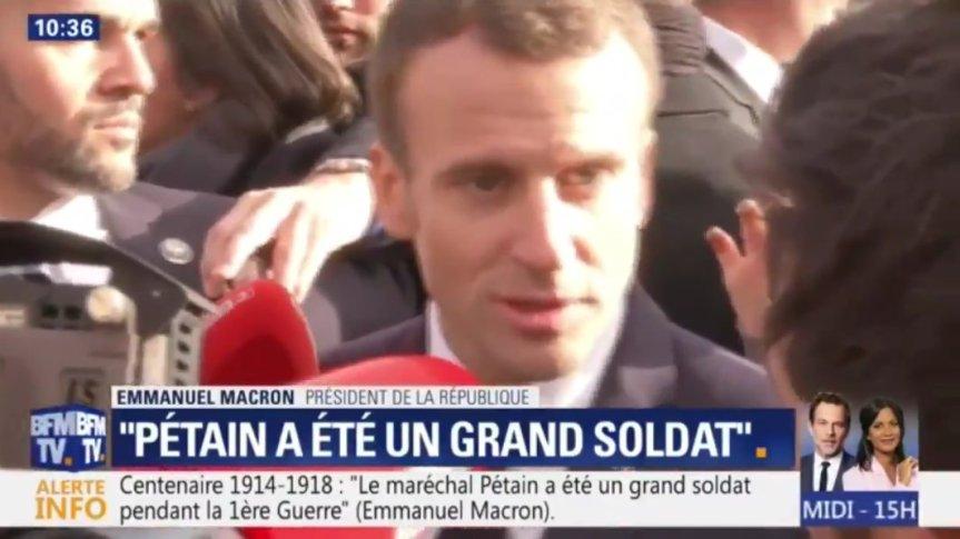 Pétain, un grand soldat» pour Emmanuel #Macron