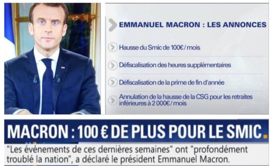 Emmanuel Macron les annonces Gilets jaunes 20h TF1