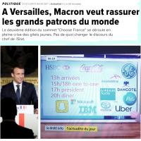 """""""Le Grand dîner de l'#ISF"""": Emmanuel #Macron régale les patrons à #Versailles.."""