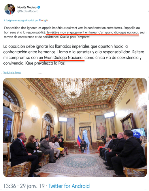 grand débat national maduro macron vénézuela gilets jaunes