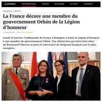 Quand la France #Macron décore de la Légion d'honneur un membre du Gouvernement d'#extrêmedroite de Victor Orbán (Hongrie)...