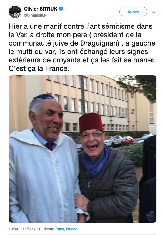 Judaïsme Islam Antisémitisme Antisioniste Olivier Sitruk