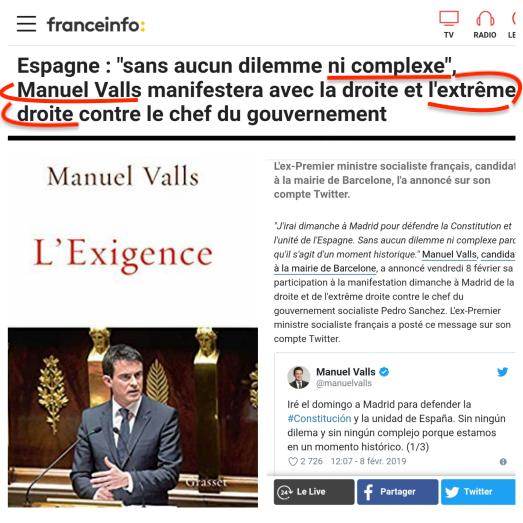 Manuel Valls extrême droite ActeX111 GiletsJaunes