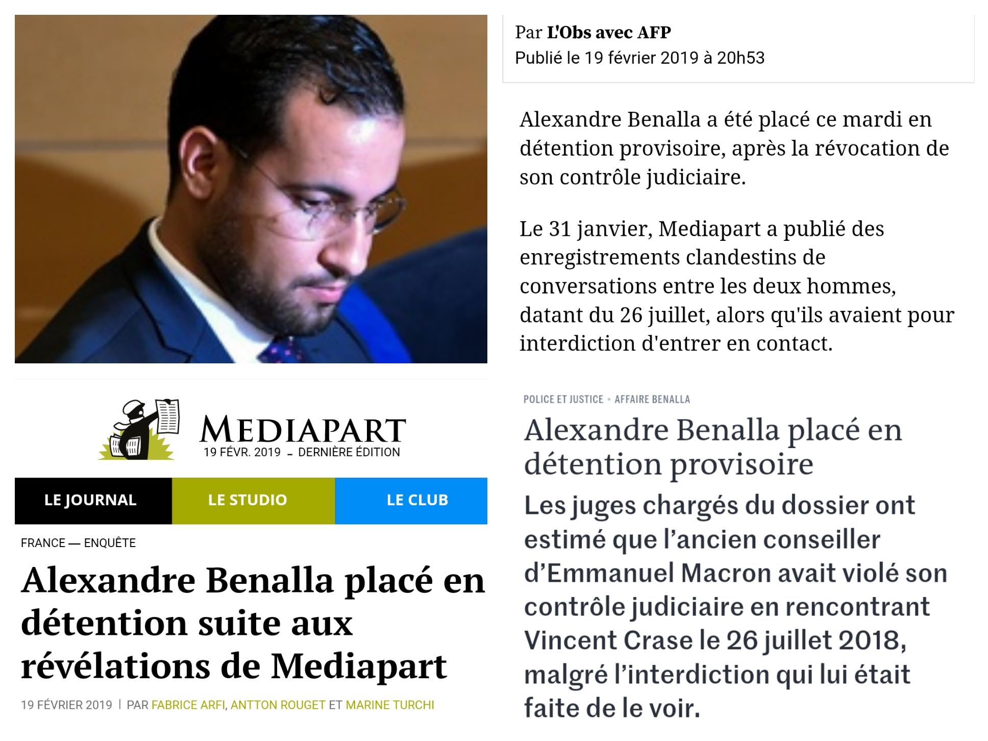 Alexandre Benalla détention provisoire Prison