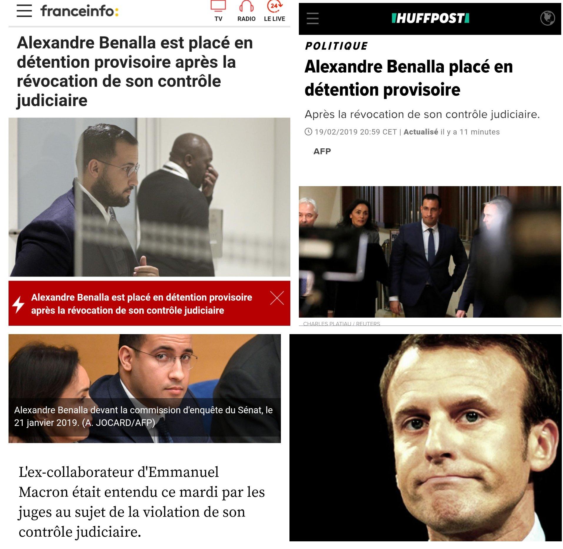 Benalla en prison Détention Emmanuel Macron çaSuffit