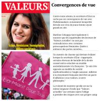 Marlène Schiappa & ValeursActuelles, c'est du sérieux | Convergences de vue…