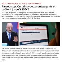 INFO: #ParcourSup devient payant. Ils ont osé ...