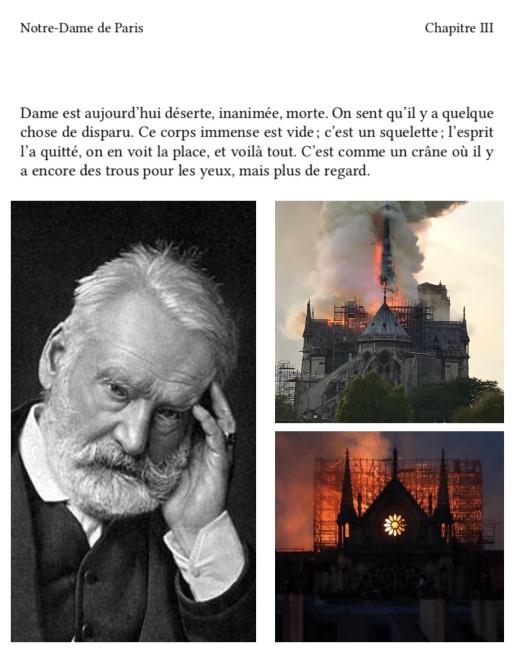 Notre-Dame de Paris Incendie Victor Hugo
