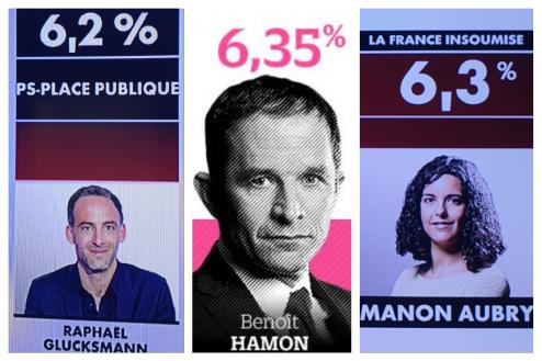 Résultats européennes Gluksmann Manon aubry Rassemblement national Macron en Marche Nathalie Loiseau