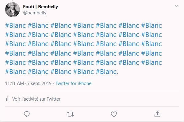 Blanc Racisme