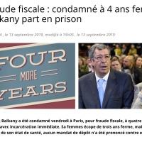 #Patrick Balkany ▪️«Four more years!» | l'affiche électorale de la case prison...  