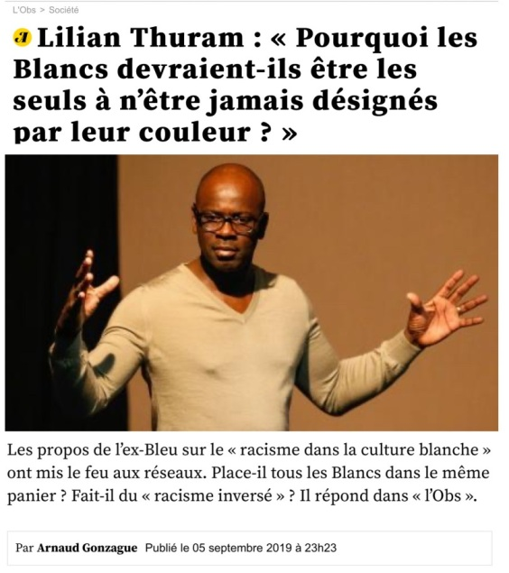 Lilian Thuram Racisme Foot Blancs