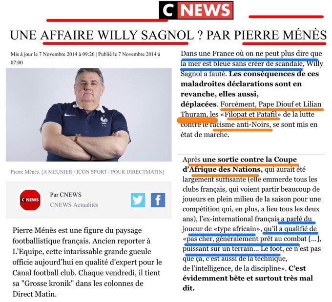 Pierre Menes racisme Antiblancs.