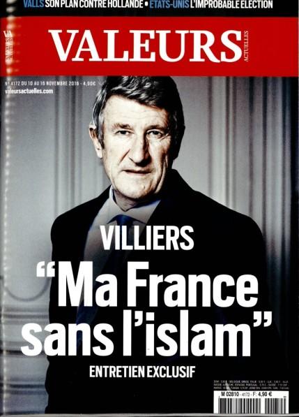 De Villiers Macron Valeurs Actuelles