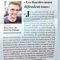 «Notre bouclier Kurde brûle et nous regardons ailleurs». Édit archive de Charb | CharlieHebdo