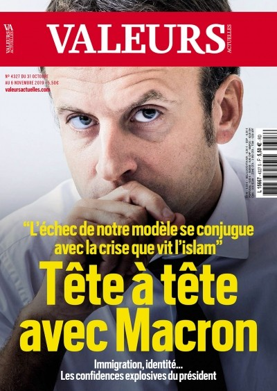 Macron islam Valeurs actuelles identité