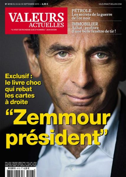 Zemmour Macron Valeurs Actuelles