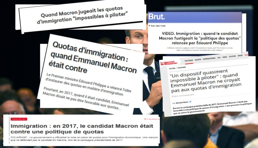 Macron Quotas immigration France