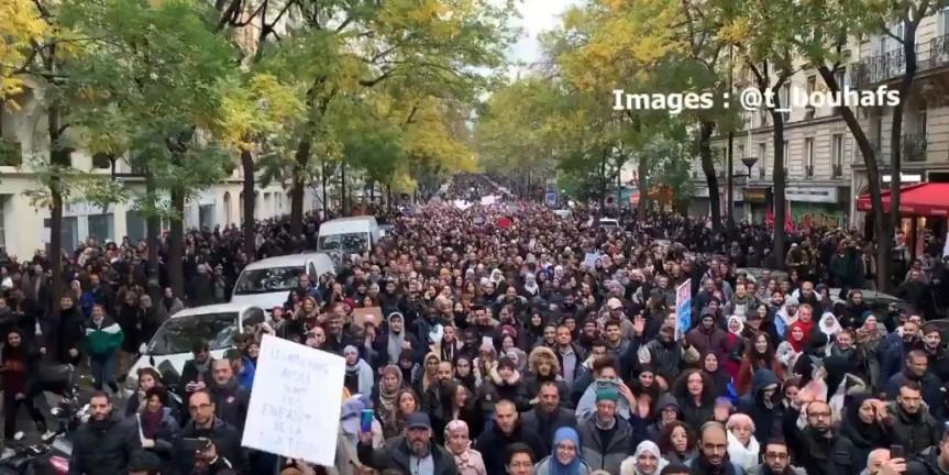 Marche contre l'islamophobie Paris1