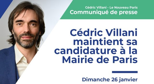 Cedric Villani non à Macron Communiqué