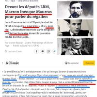 De l'#ActionFrançaisede #Macron: «Président Légal» ou «#Maurrassien Réel»? Filiation...