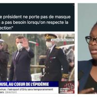 C'est #Sibeth | épisode 5247: Le #masque [in]visible de Macron ... #CoVid19fr