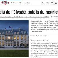 Elyseé: C'est l'histoire d'un Palais gravé des sceaux de la traite négrière et de l'esclavage...